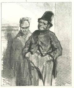Gentelmen - Original Lithograph after Paul Gavarni - 1881