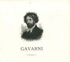 Self-portrait of Gavarni - Original Lithograph after Paul Gavarni - 1881