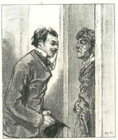 The Gentle Request - Original Lithograph after Paul Gavarni - 1881
