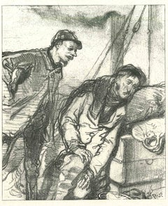The Misery - Original Lithograph after Paul Gavarni - 1881