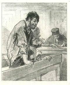 The Mocking - Original Lithograph after Paul Gavarni - 1881