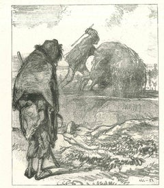 The Whipping - Original Lithograph after Paul Gavarni - 1881