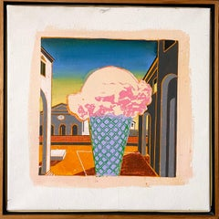 Paul Giovanopoulos Pop Art Oil Painting on Canvas Photo Realist Ice Cream Cone