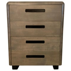 Paul Goldman for Plymodern Pickled Mahogany High Boy Dresser