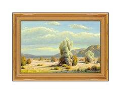 Paul Grimm Large Original Western Landscape Painting Oil On Canvas Signed Art