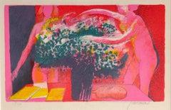 La Reveuse -  Paul Guiramand - 1960s - Lithograph - Contemporary