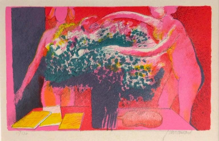 La Reveuse -  Paul Guiramand - 1960s - Lithograph - Contemporary - Print by Paul Guiramand