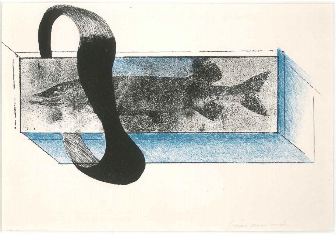 Poisson -  Paul Guiramand - 1960s - Lithograph - Contemporary