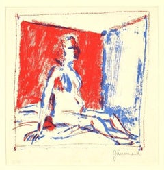 Red Bedroom -  Paul Guiramand - 1960s - Lithograph - Contemporary