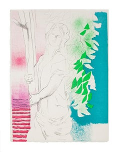 Woman - Original Lithography - 1970s