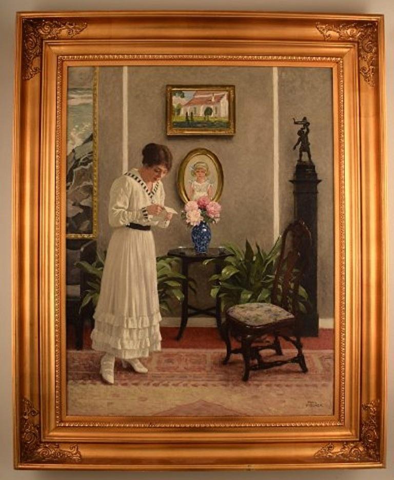 Danish Paul Gustav Fischer '1860-1934', Denmark, Oil on Canvas,