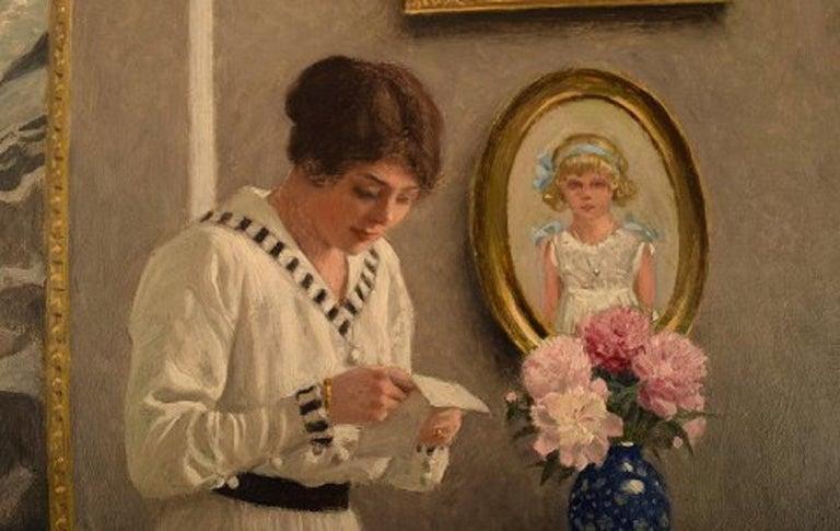 20th Century Paul Gustav Fischer '1860-1934', Denmark, Oil on Canvas,