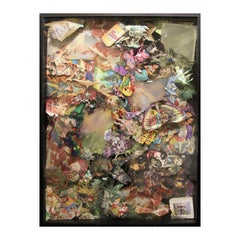 """""""Ancient Aliens II"""" Colorful Three Dimensional Mixed Media Assemblage Collage"""