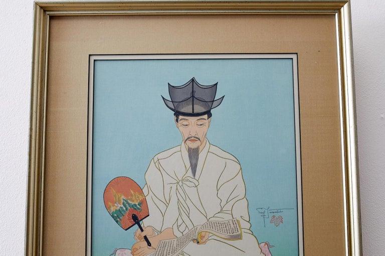 Le Vieux Manuscrits, Coree-Seoul - Realist Print by Paul Jacoulet