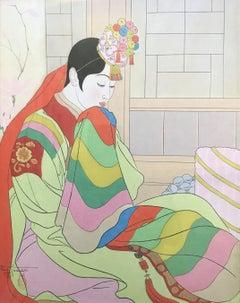 Paul Jacoulet La Mariée Seoul, Corée, Woodblock Print, 1948