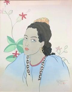 Paul Jacoulet Une Jeune Fille De Fidji. Oceanie, 1935