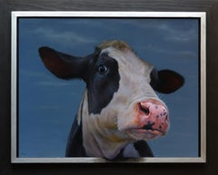 Portrait of a Cow- 21st Century Contemporary Portrait painting of a Cow
