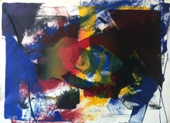 """""""Paul Jenkins 1989-1992 Trial Proof"""" Abstract Expressionist Work on Paper Signed"""