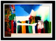 PAUL JENKINS Original Acrylic Painting On Canvas Signed Large Landscape Oil Art