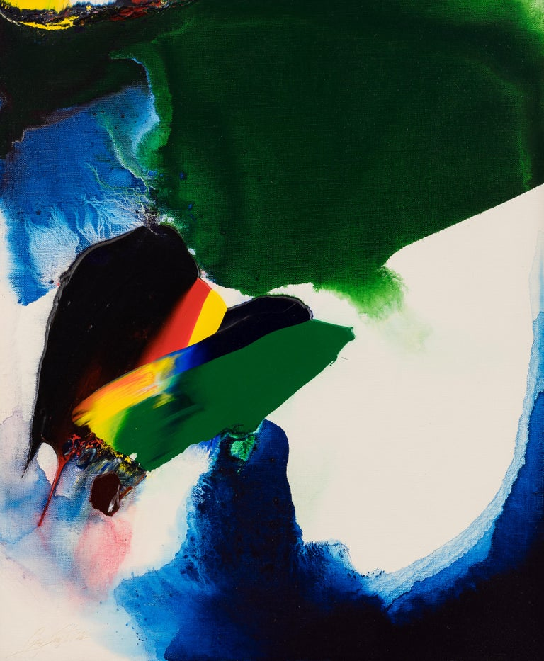 Phenomena like Byron by PAUL JENKINS - Abstract Expressionist, colour - Painting by Paul Jenkins