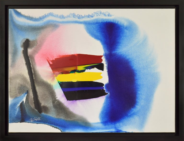 Phenomena White of the Tiger by PAUL JENKINS (1923-2012)  Acrylic on canvas 97 x 130 cm (38 ¹/₄ x 51 ¹/₈ inches) Signed lower left, Paul Jenkins Titled and dated 1987 on the reverse  Provenance: Private collection, France  Artist biography: Born in