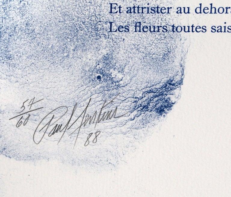 Euphories de la Couleur, Lithograph by Paul Jenkins, Andre Verdet Poems For Sale 1