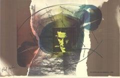 """Paul Jenkins-Beckett Festival-24"""" x 37""""-Offset Lithograph-1978-Pop Art"""