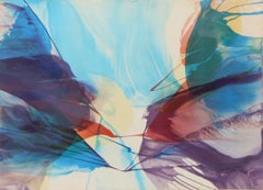Sanctuary, Large Colorful Abstract Silkscreen by Paul Jenkins 1972