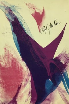 """""""Seeing Voice: Welsh Heart, 1965""""-Suite containing Lithographs and Poetry"""