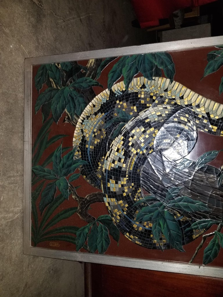 Mid-20th Century Paul Jouve Design Lacquer Panel, Executed by Godde For Sale