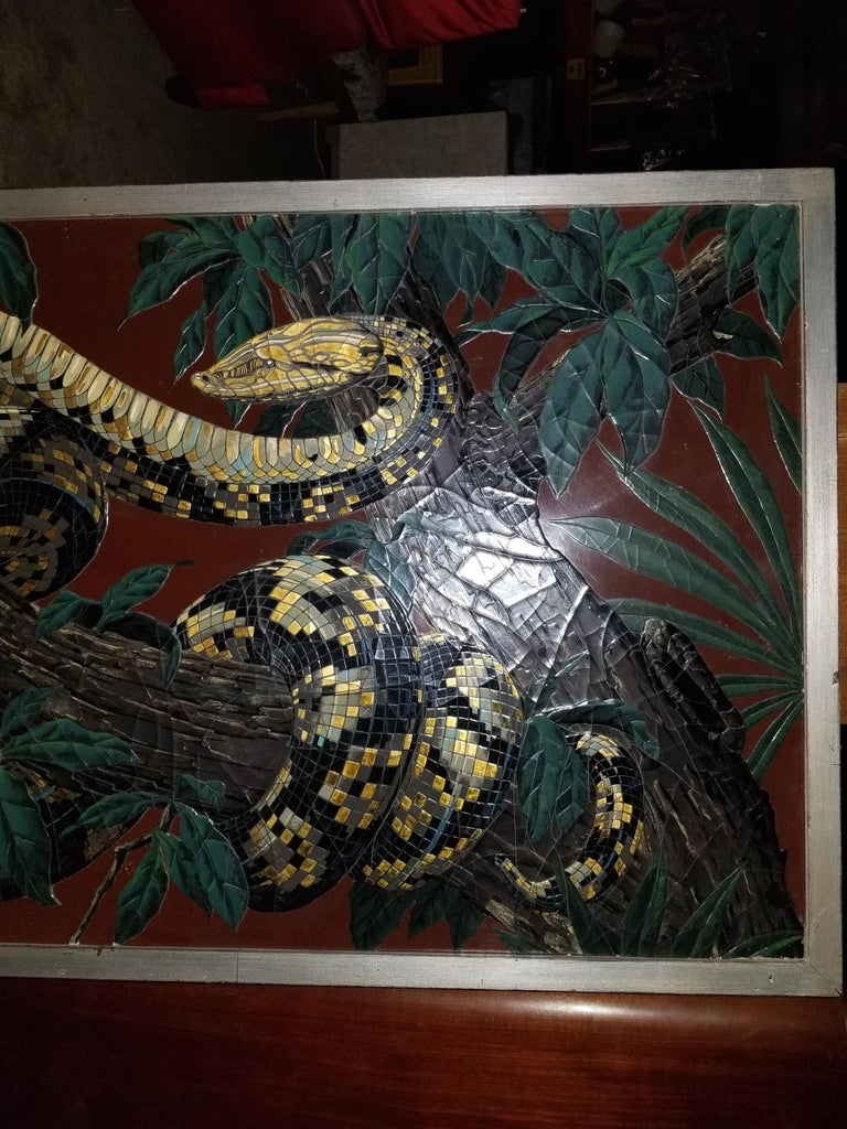 Paul Jouve Design Lacquer Panel, Executed by Godde For Sale 1