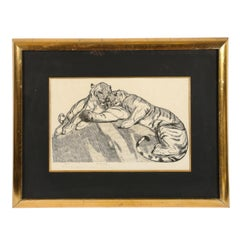 "Tigers au repose""(Tigers resting)"