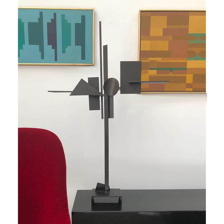 Welded steel sculpture by California artist Paul Kasper, American (1922- 9011)), circa 1970, this Fine Art sculpture makes a bold modern statement. Acquired directly from the artist's estate.