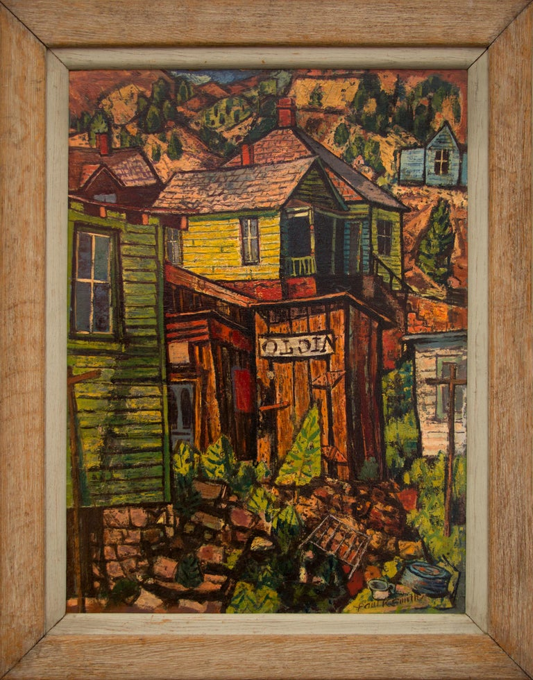 Untitled (Colorado Mountain Town) - Painting by Paul Kauvar Smith