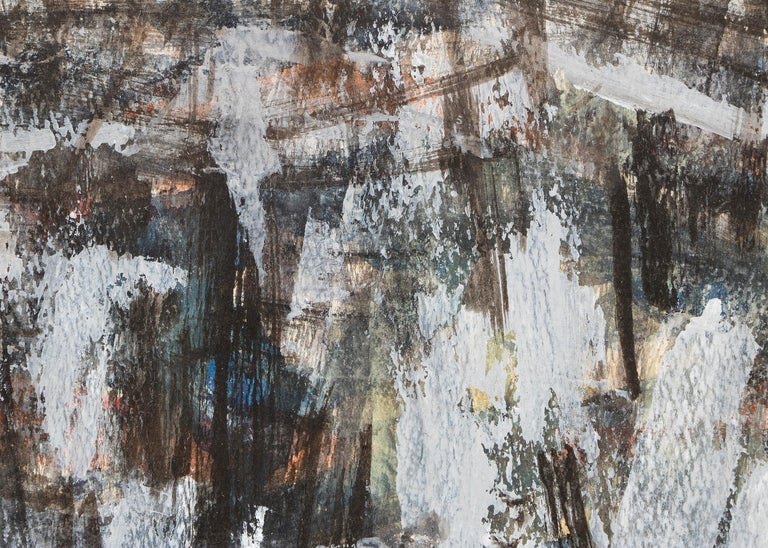 Untitled (1950s Abstract: Soft Gray, Brown, Blue, White, Black, Yellow & Orange) For Sale 2