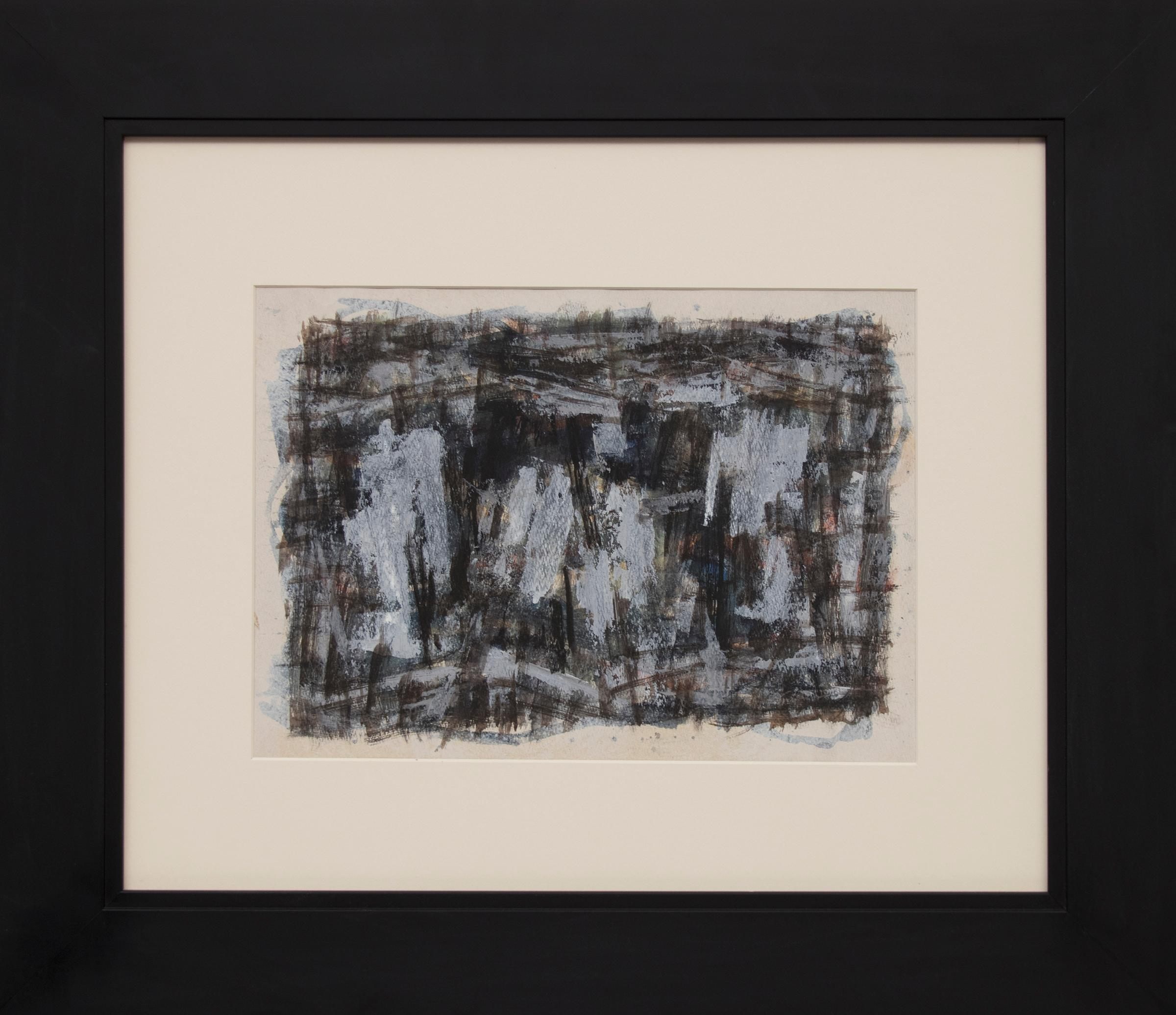 Untitled (1950s Abstract: Soft Gray, Brown, Blue, White, Black, Yellow & Orange)