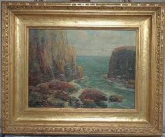 American Impressionist Paul King Marine oil Painting