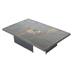 Paul Kingma black rectangular coffee table Netherlands 1980
