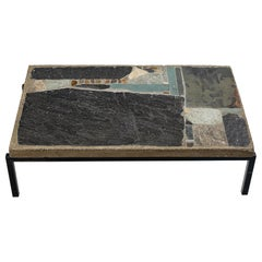 Paul Kingma Coffee Table in Slate and Ceramic