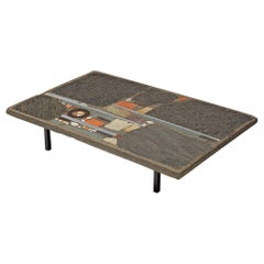 Paul Kingma Coffee Table in Slate and Ceramic Stone