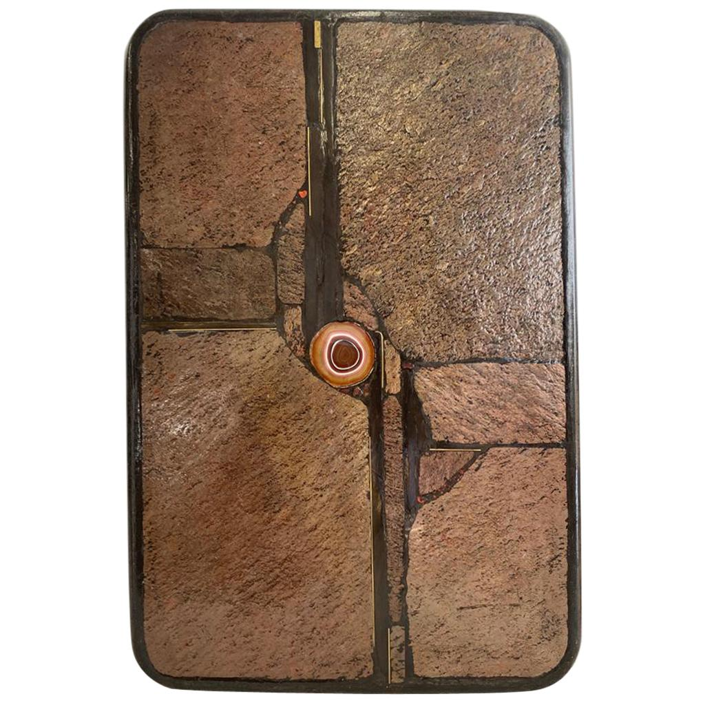 Paul Kingma Mid-Century Modern Stone and Agate Coffee Table