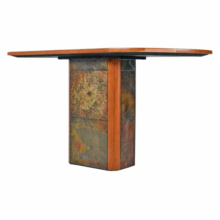 South African Paul Kingma Style Pedestal Console Table Made In Africa By Slate Craft Ltd