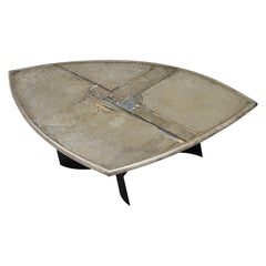Paul Kingma Triangle Shaped Coffee Table, Holland, 1995