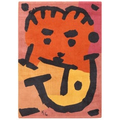 After Paul Klee Artist Rug. Size: 4 ft 8 in x 6 ft 6 in