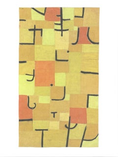 2018 Paul Klee 'Characters in Yellow' Abstract Yellow,Orange,Black Germany Offse