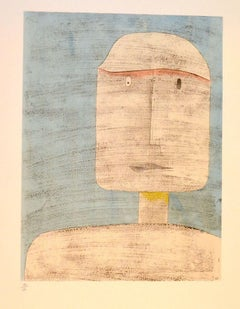 Ghost of a Warrior - Original Lithograph by P. Klee - 1960