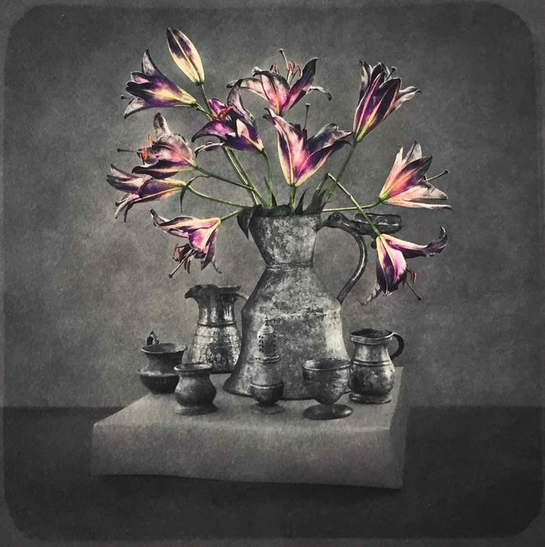 This is one image in a series of still life photographs, each one shot in a single session using only long exposure and light. Each photograph has a rich, deep texture and can easily be confused with a drawn surface, rather than a photograph. The