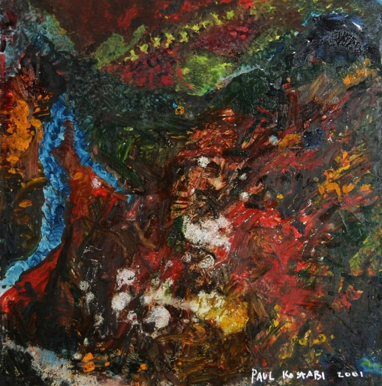 Paul Indrek Kostabi Abstract Painting - Y2K NYC