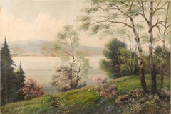 Hill Looking Over the Water - Landscape
