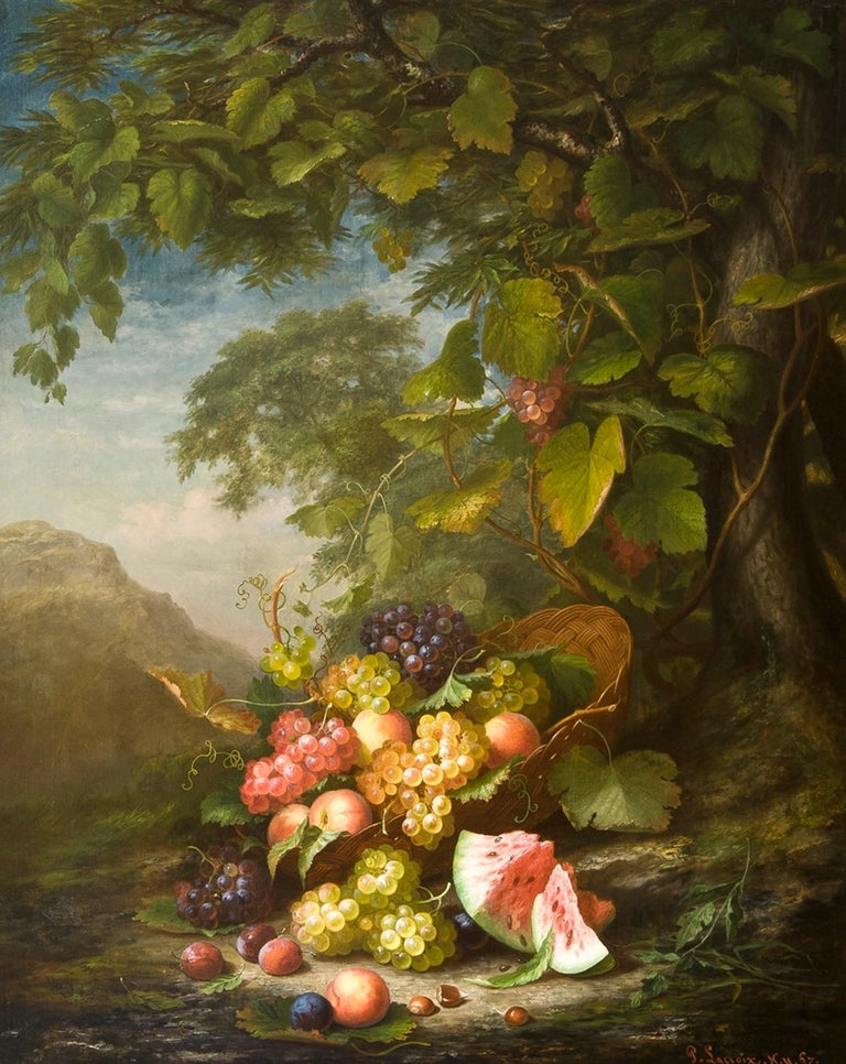 Paul LaCroix Still-Life Painting - Still Life in a Landscape